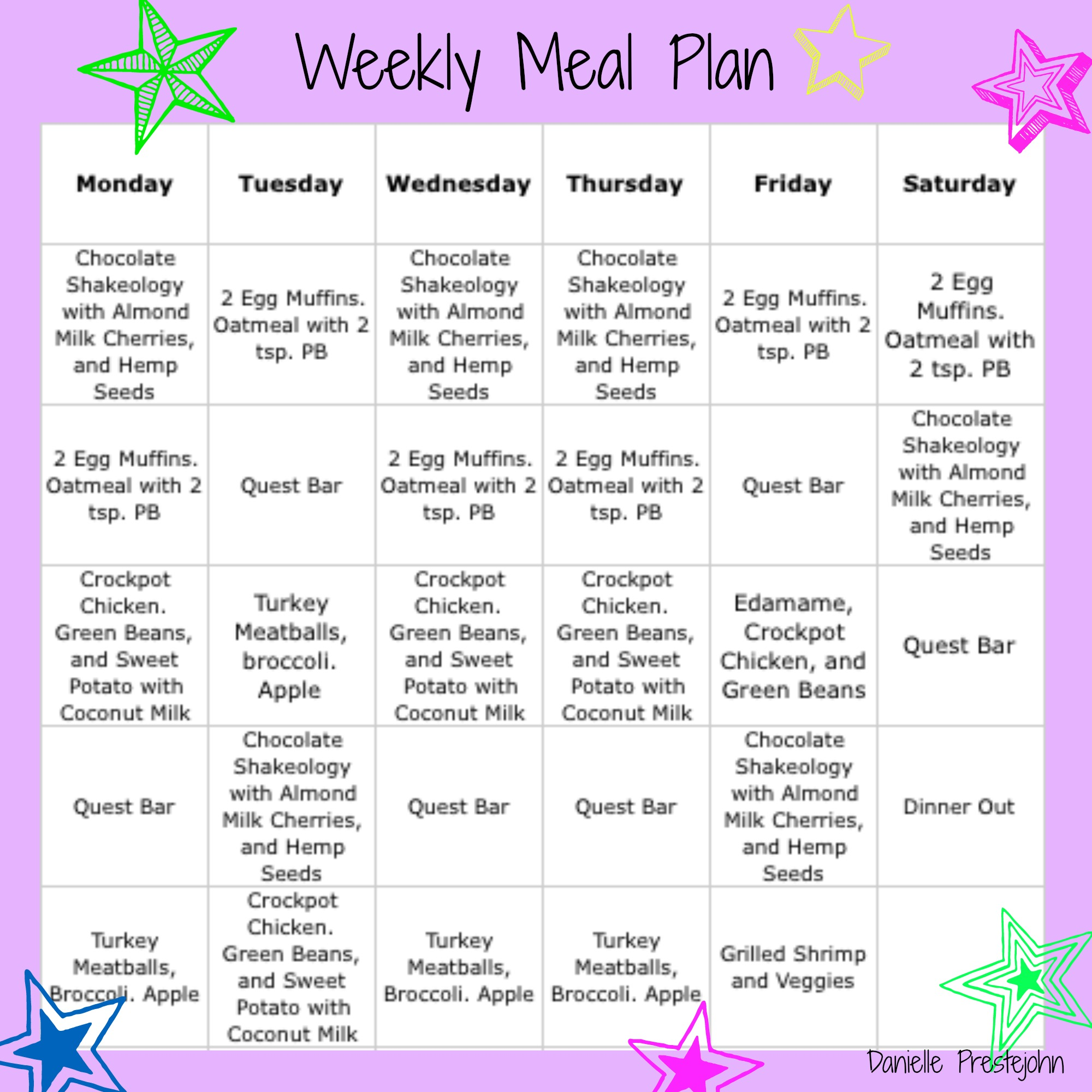 Weeklymealplan228